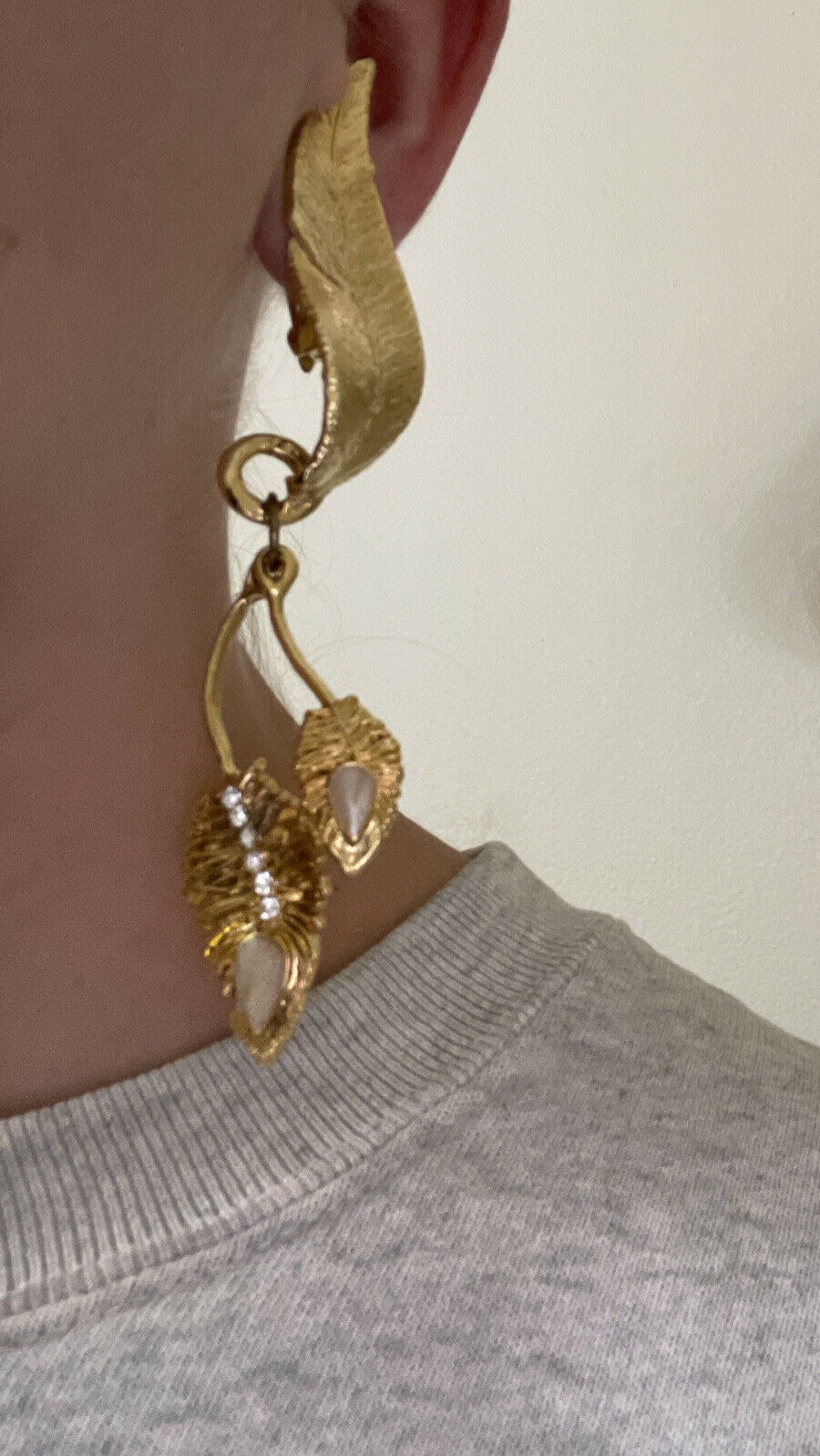 claire deve paris runway clip on earrings gold to… - image 11