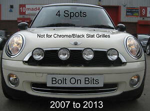 4 black spot lamp kit r55 r56 mini cooper s clubman non slat image is loading 4 black spot lamp kit r55 r56 mini