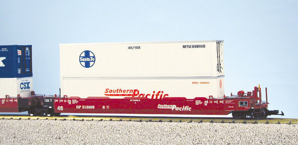 USA Trains G Scale Intermodal 5 Unit Articulated Set R17154 Southern Pacific (No