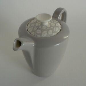 POOLE-POTTERY-GREY-PEBBLE-1-5-PINT-COFFEE-POT-C105-STREAMLINE-VINTAGE-TABLEWARE