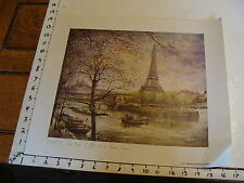 1978 reproduction print PARIS- LA TOUR EIFFEL ET LE SACRE-COEUR by Robert
