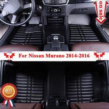 F809W Car Floor Carpet Mat Black For Nissan Murano 2014-2016 Skidproof Well New