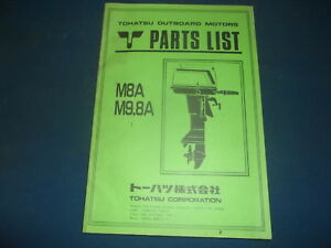 nissan tohatsu m8a m9 8a outboard motor engine parts manual book ebay rh ebay com