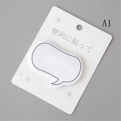 2pc Speech Bubble Shaped Cute Sticky Notes Novelty Sticky Note Pad JX