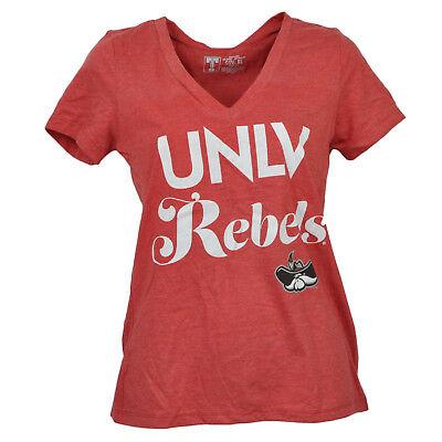 Baseball & Softball Aggressiv Ncaa Unlv Las Vegas Rebellen V-ausschnitt Rot T-shirt Damen Kurzärmelig Sport Gute WäRmeerhaltung