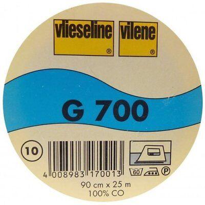 1m Vlieseline G700 schwarz Freudenberg fixierbare Gewebeeinlage  G 700