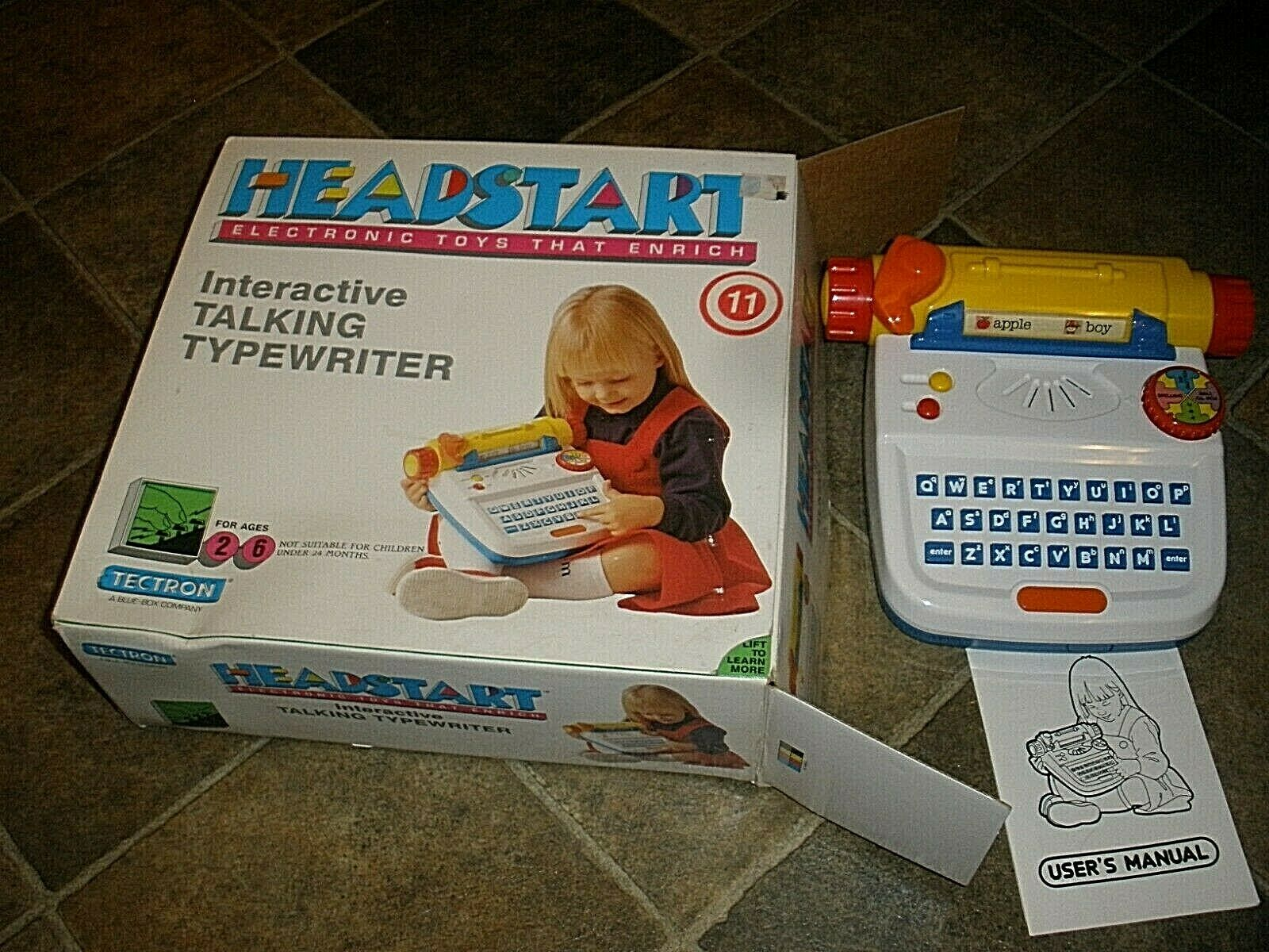 RARE Headstart Interactive Talking Typewriter Tectron Fantastic condition In Box
