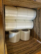 8 Rolls 4 X 60 Yds Fiberglass Reinforced Filament Strapping Packing Tape Clear