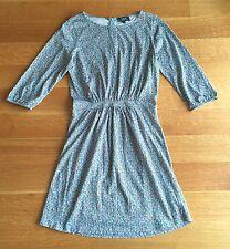A.P.C. Rue Madame Paris blue Yellow Green cotton Floral Print dress sz XS
