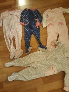 Lot Of 4 Baby Girl 12 Month Pajamas