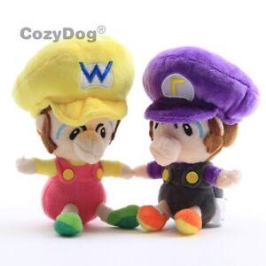 2Pcs-Super-Mario-Bros-Baby-Waluigi-Baby-Wario-Plush-Doll-Toy-5-5-034-Enfants-Cadeau