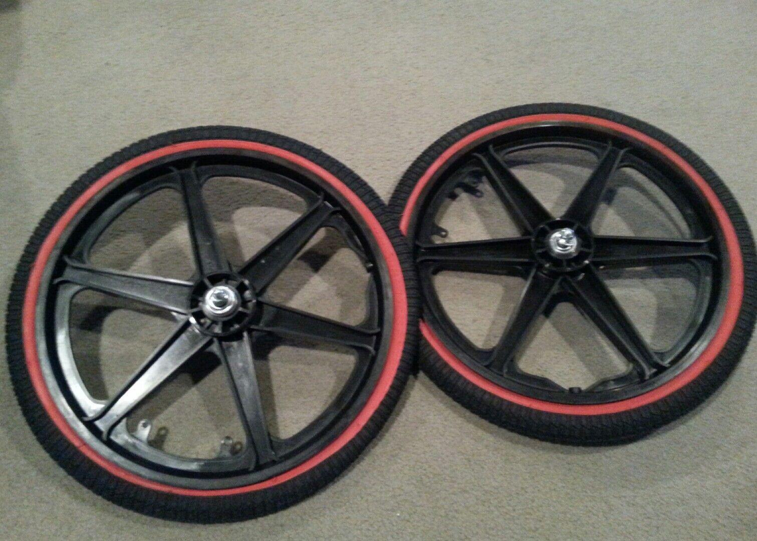 Nuevo 20  MAG Ruedas de 6 radios nuevos neumáticos tubos para Gt Dyno Haro Bmx Bicicletas