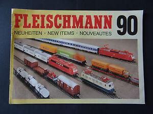 CATALOGUE-FLEISCHMANN-1990-90-BAHN-TRENO-modelisme-Miniature-katalog