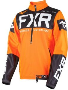FXR-Cold-Cross-RR-Mens-1-4-Zip-Up-Snow-Jacket-Orange-Black-White