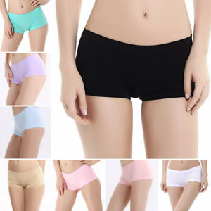 New-Women-Seamless-Underwear-Boxers-Panties-Underpants-Solid-Sports-Casual-Cozy