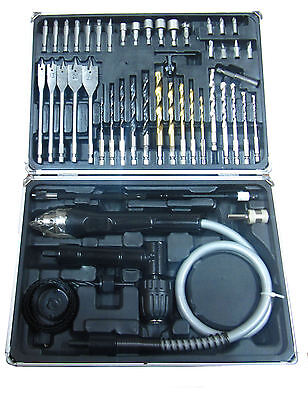RDGTOOLS 51PC DRILL AND DRILL SET WITH 1 MTR FLEXIBLE DRIVE
