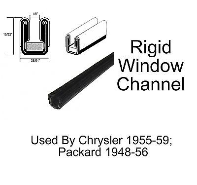 """1965 1966 1967 Mercury Window Channel 35//64/"""" Tall 35//64/"""" Wide at Base"""