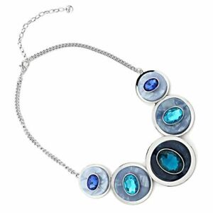 Statement-Fashion-Jewellery-Chunky-Necklace-with-Layered-Concave-Circles-and