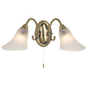 Endon-Hardwick-2lt-luce-a-parete-40W-Antico-effetto-ottone-piatto-amp