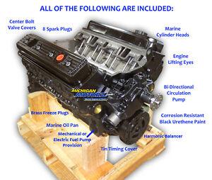 V8 Pre-Vortec GM Marine Engine 350 New 5.7L Replaces Mercruiser years 1987-95