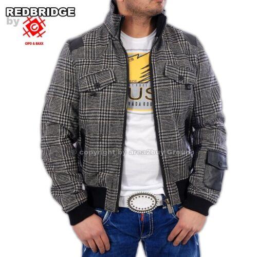 Redbridge Uomo Inverno Caldo-Giacca r-5000 GRIGIO-sale!