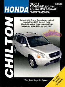 Shop manual mdx service repair acura chilton book haynes | ebay.