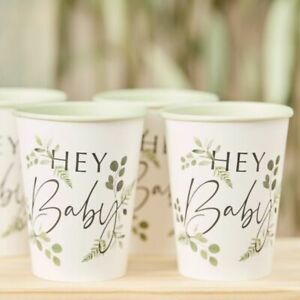 Hey-Baby-Cups-Botanical-Shower-Table-Decorations-Rustic-Greenery-Mum-To-Be