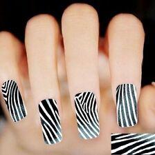 Zebra Stripes Nail Art Sticker Nail Decals Decor Manicure Tips Art DIY Sticker ♫