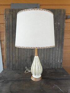 Mid-Century-Modern-FAIP-Table-Lamp-w-o-Shade-Vintage-Used-Works-Retro