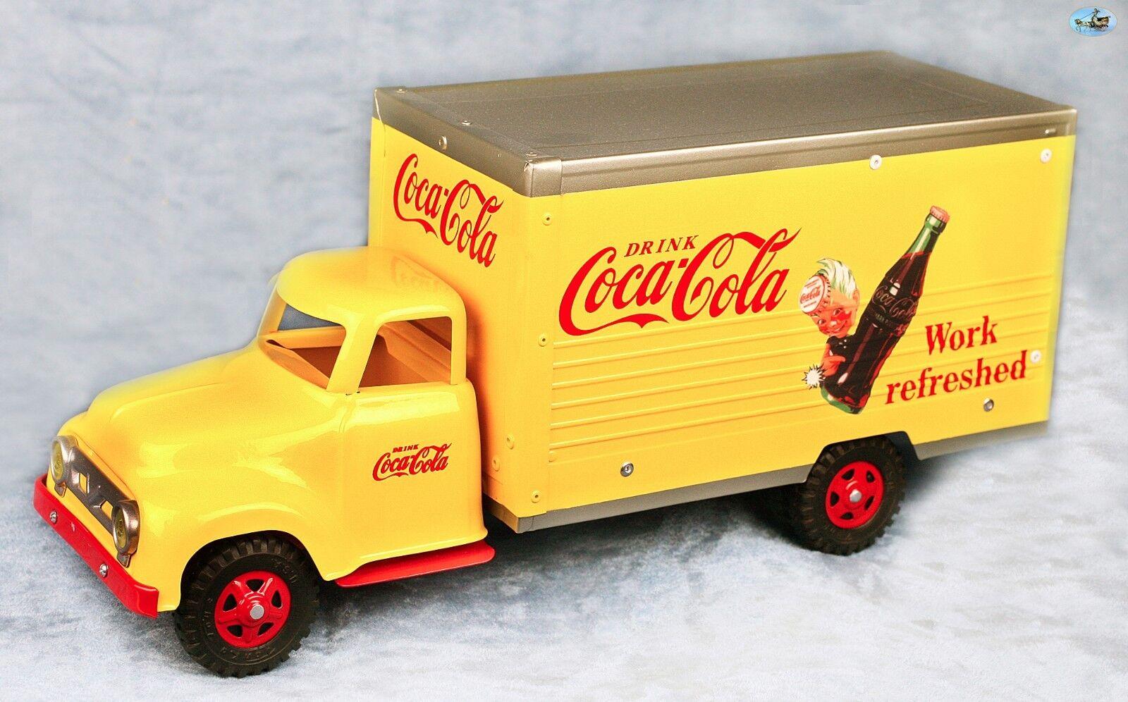 Génial restauré VINTAGE 1950 S Tonka & NYLINT  Buvez Coca-Cola  Camion de livraison