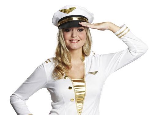 Rub Kostüm Zubehör Pilotenkappe zur Pilotin an Karneval Fasching
