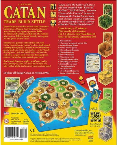 Catan 5th Edition Board Game Catan Studios Base Core CN3071 Settlers Of