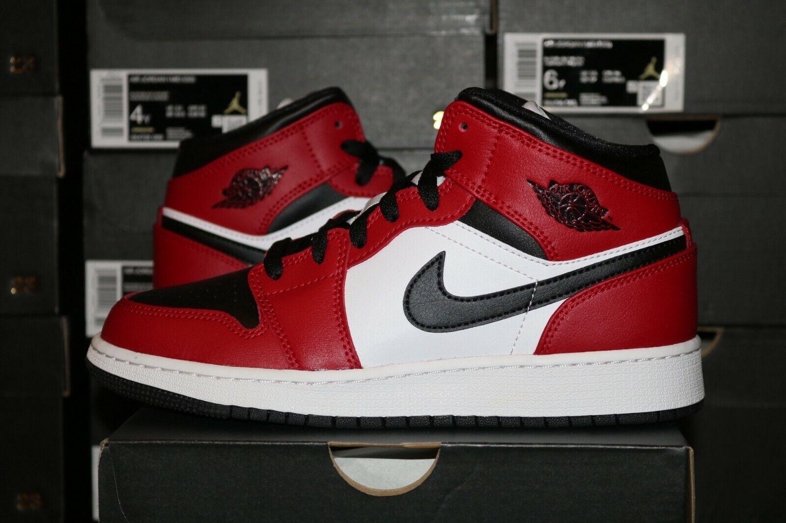 Nike Air Jordan 1 Retro Low OG AJ1 Black Toe Red GS Youth UK 5 6 7 US Y New