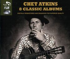 Chet Atkins EIGHT (8) CLASSIC ALBUMS Finger Style Guitar IN HOLLYWOOD New 4 CD