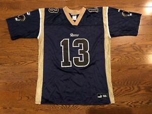 outlet store 1da69 136a3 Details about RARE Vintage Puma St Louis Rams Kurt Warner Jersey #13 Men's  XL NFL Football