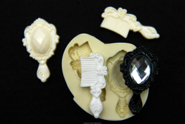 Silicone Molds, Sugarcraft Mold Mould,Cup Cake, Clay - mirror