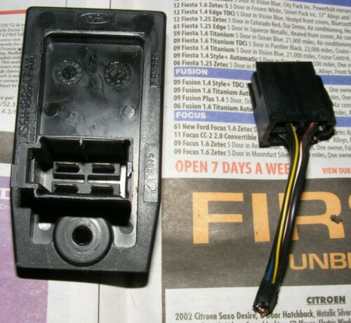 Ford Ka,Fiesta Mk4 Heater resistor pack and wiring.Cures fan speed problems