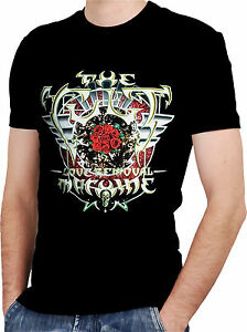 The cult band black new t shirt rock t shirt rock band for Custom t shirts long island ny