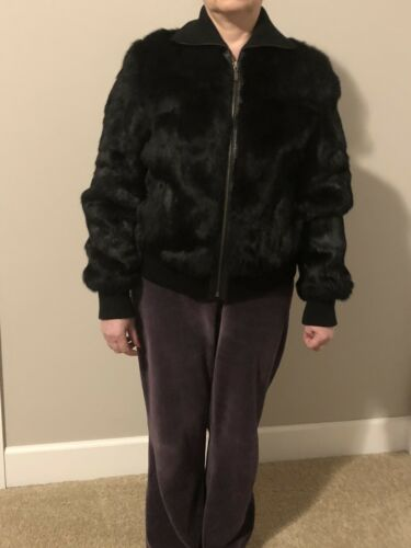 Willi Smith Rabit Fur Jacket Women's Size M