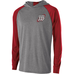 Columbia 300 Men's Cuda Performance Hoody Bowling Shirt Dri-Fit Carbon Scarlet
