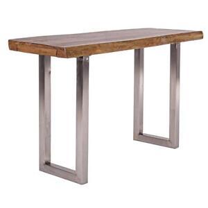 consolle in legno e acciaio tavolo tavoli tavolini sezione