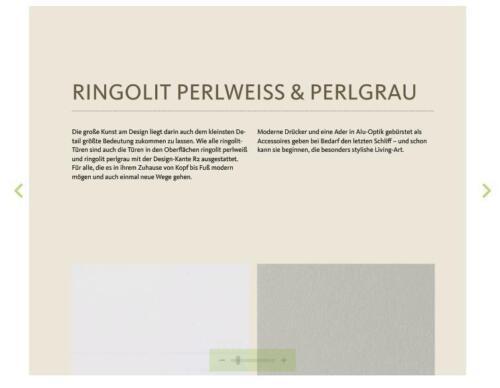 Ringo Türblatt CPL-Oberfläche Perlweiß Röhrenspanstreifen Rundkante R2