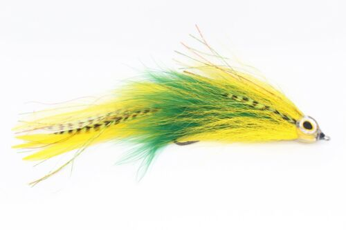 Big Bass fly Green /& Yellow Articulated Muskie Pike