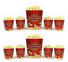 Popcorn Bucket Set - 2 Large & 8 Small Plastic Serving Bowl Tubs