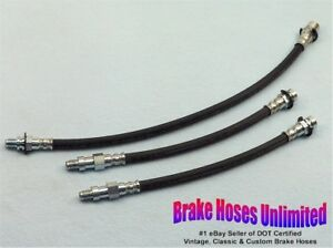 BRAKE-HOSE-SET-Chevrolet-Truck-C10-1-2-Ton-1969-Leaf-Springs-w-o-396