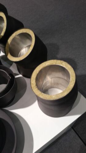 Möck Primus doppelwandiges Rohr 10 cm Abstand Ofenrohr Rauchrohr Rohr geschweißt