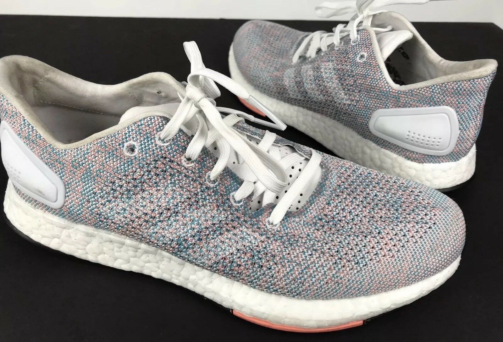Womens Adidas PureBoost DPR Running shoes White White Chalk Coral B75670 Size 8.5