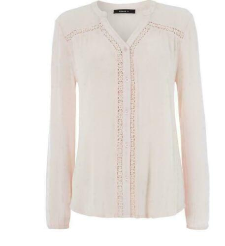 New RRP £22.99 Bonmarche Light Pink Lace Overshirt B14B