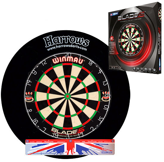 WINMAU Abwurflinie Blade 5 Bristle Dartboard HARROWS Surround Abwurflinie WINMAU Dartscheibe 079672