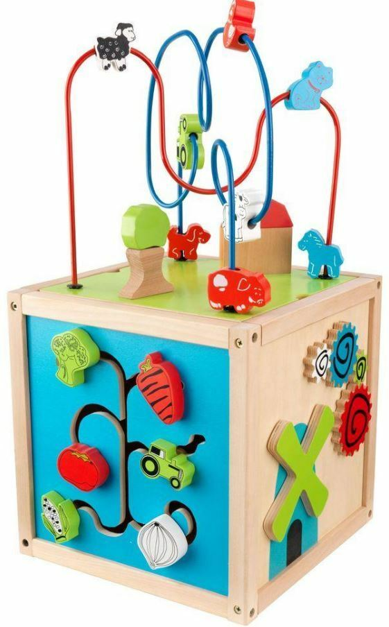 Playset Bead Maze Cube 5 Sides Fun 1 yr or above Shapes redating Gear Tiles DEAL